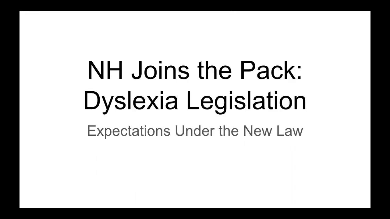 NH Joins the Pack: Dyslexia Legislation Thumbnail