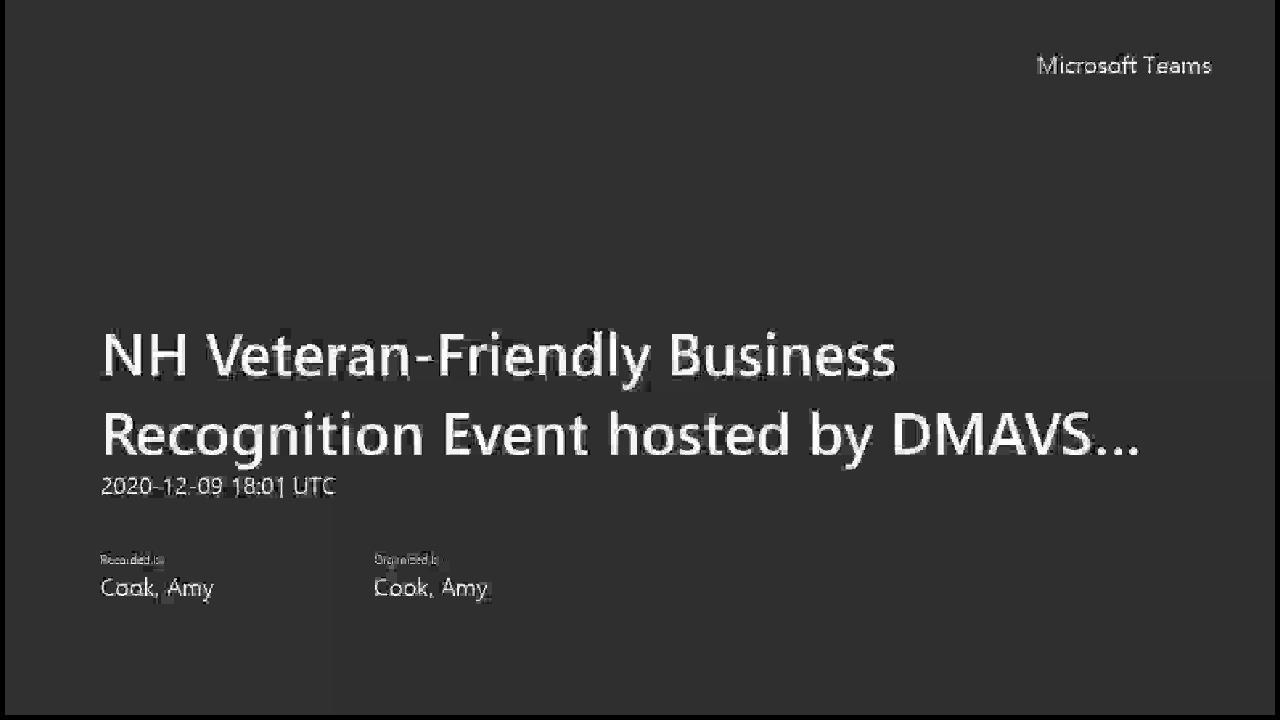 Veteran Friendly Business Recognition Event Thumbnail
